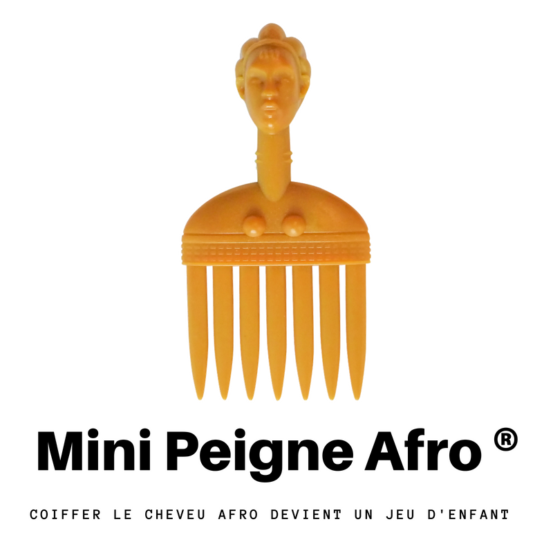 mini peigne afro